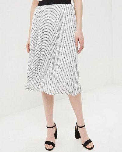 Плиссированная юбка белая Karl Lagerfeld