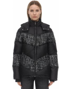 Куртка с капюшоном нейлоновая на молнии Karl Lagerfeld