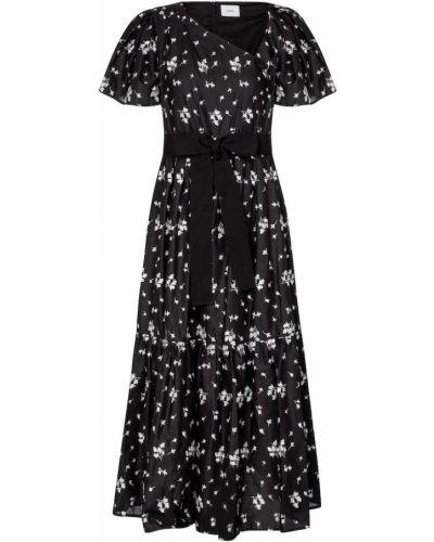 Льняное черное платье винтажное Erdem