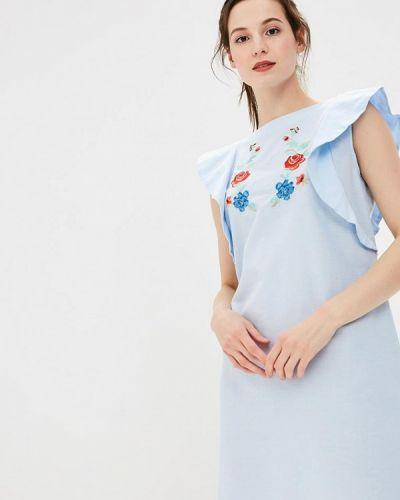 Платье голубой весеннее Incity