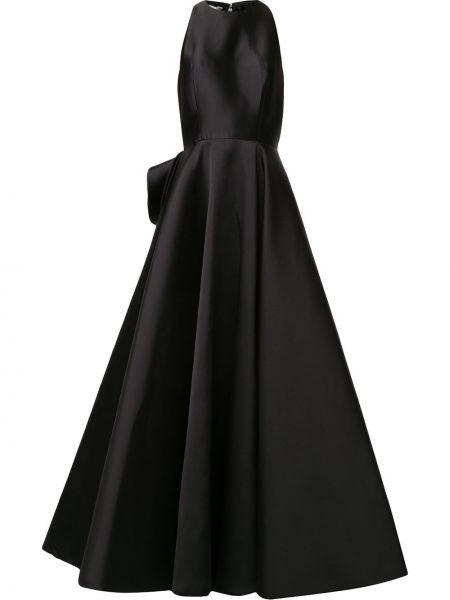 Расклешенное приталенное платье с оборками без рукавов Azzi & Osta