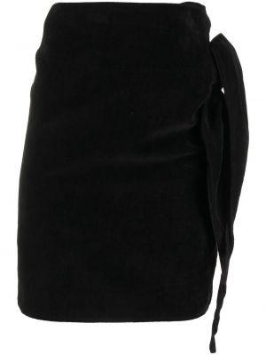 Бархатная черная с завышенной талией юбка Comme Des Garçons Pre-owned
