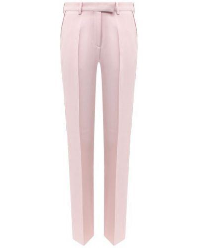 Со стрелками розовые шерстяные классические брюки Golden Goose Deluxe Brand