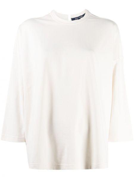 Хлопковая белая блузка с воротником с вырезом Sofie D'hoore