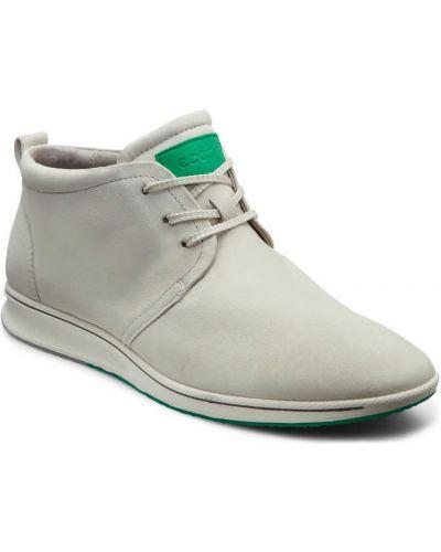 Ботинки без каблука осенние кожаные Ecco