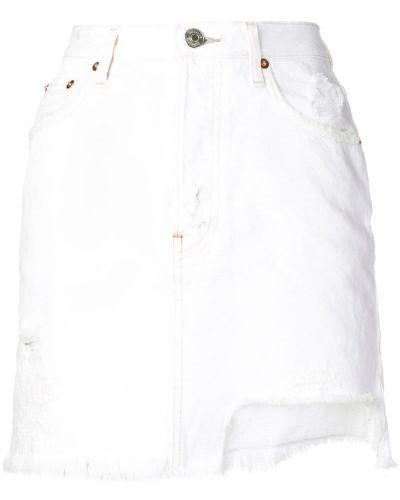 Джинсовая юбка классическая с карманами Haikure