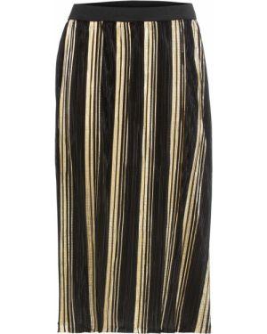 Плиссированная юбка с поясом в складку Bonprix