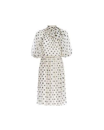 Белое коктейльное платье Luisa Spagnoli