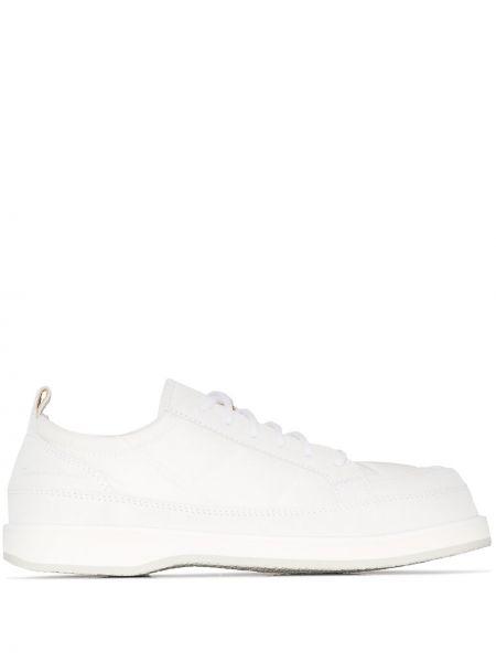 Biały sneakersy z prawdziwej skóry Jacquemus