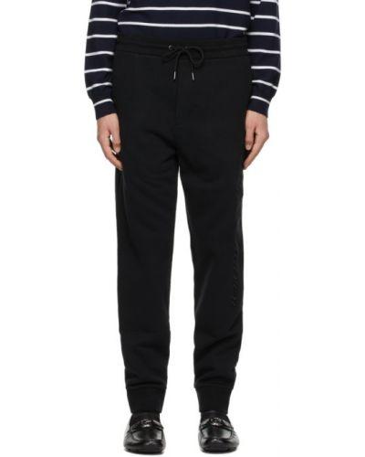 Черные классические брюки с карманами с манжетами Ralph Lauren Purple Label