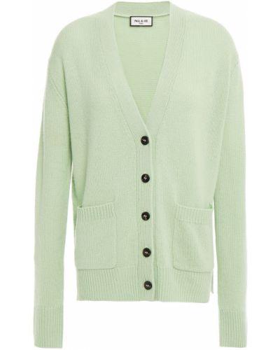 Зеленый кашемировый кардиган с карманами Paul & Joe
