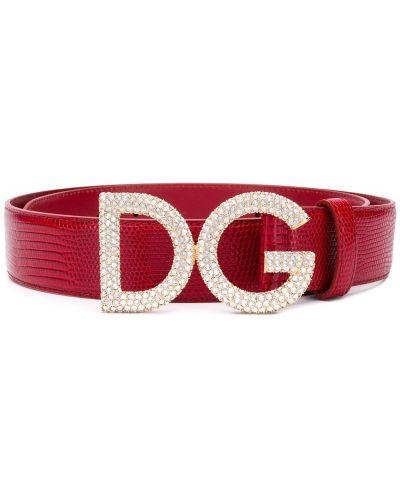 Ремень с логотипом красный Dolce & Gabbana