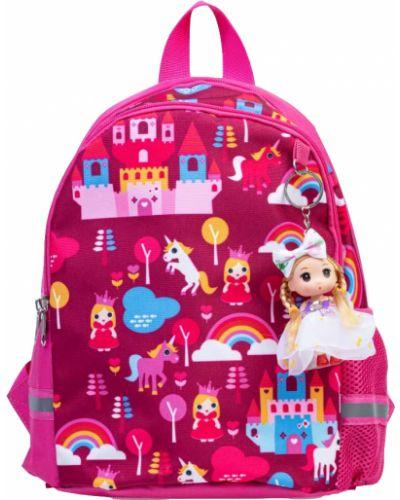 Мягкий брендовый розовый рюкзак котофей