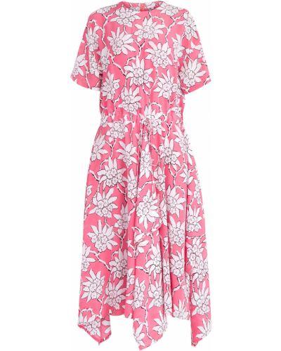 Платье с цветочным принтом спортивное Valentino