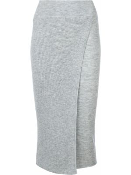 Серая юбка карандаш с рукавом 3/4 Cashmere In Love