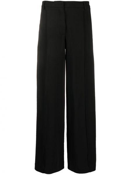 Брючные черные расклешенные брюки с поясом Andrea Ya'aqov