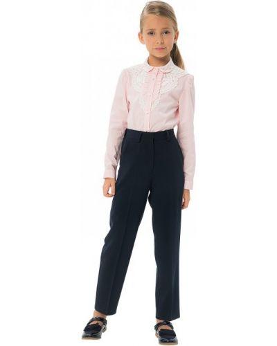 Школьные брюки с поясом на молнии с высокой посадкой карамелли