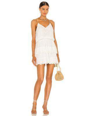 Хлопковое платье мини - белое Karina Grimaldi