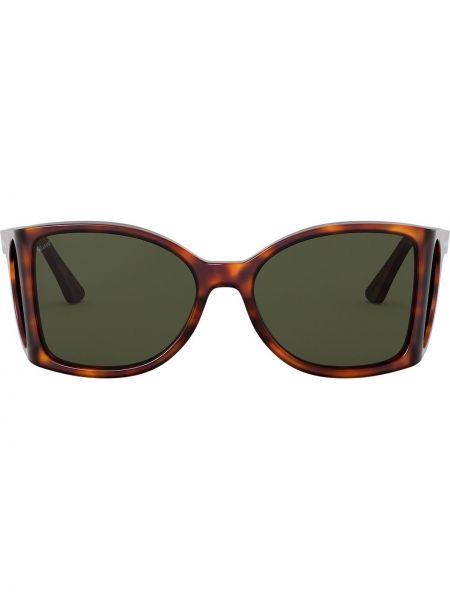 Массивные прямые солнцезащитные очки хаки Persol