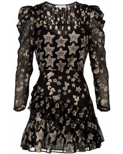 Шелковое черное платье Loveshackfancy