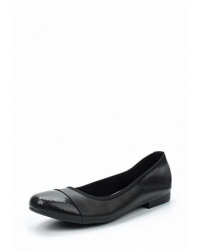 Черные балетки кожаные Alessio Nesca