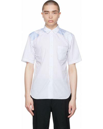 Biała koszula bawełniana krótki rękaw Comme Des Garcons Homme Deux