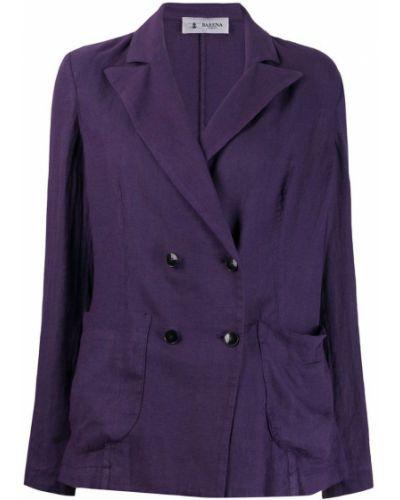 Пиджак двубортный фиолетовый Barena