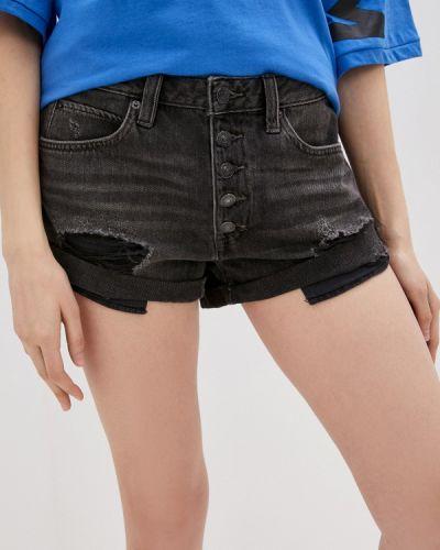 Черные джинсовые шорты свободного кроя Free People