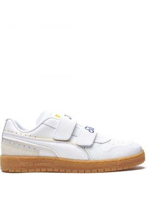 Кожаные белые кроссовки с вышивкой Puma