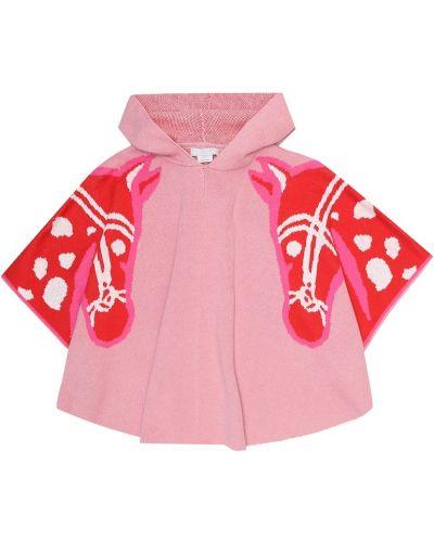 Bawełna wełniany różowy peleryna Stella Mccartney Kids
