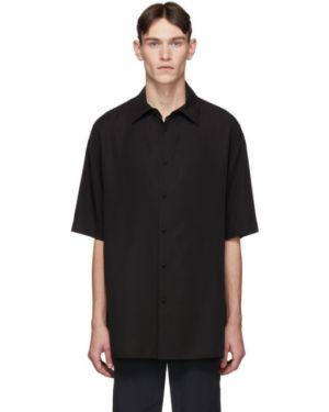 Koszula krótkie z krótkim rękawem z kołnierzem satyna Valentino