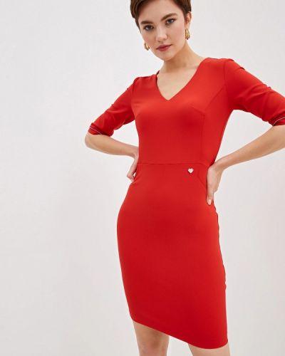 Платье осеннее красный Blugirl Folies