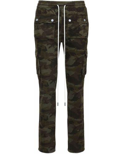Spodnie bawełniane z printem Flaneur Homme