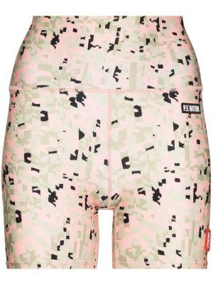 Розовые брюки с завышенной талией с принтом P.e Nation