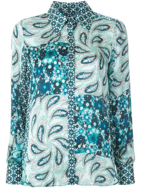 Klasyczna niebieska klasyczna koszula z długimi rękawami Elie Tahari