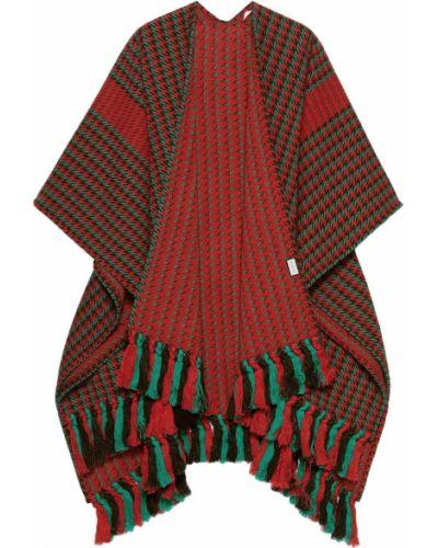 Włókienniczy z rękawami zielony płaszcz Gucci
