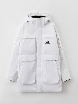 Белая куртка осенняя Adidas