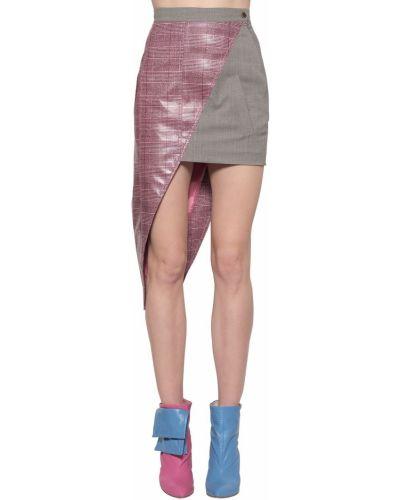 Юбка мини короткая - розовая Natasha Zinko
