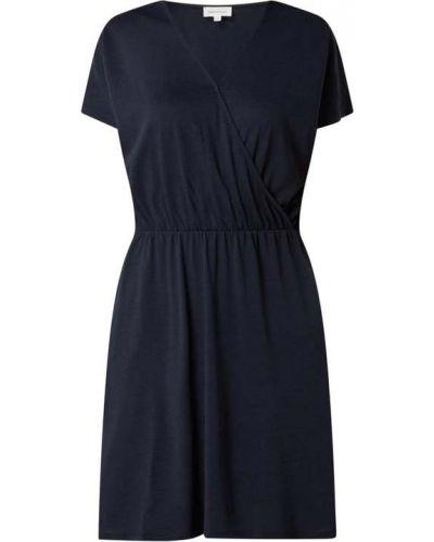 Niebieska sukienka mini bawełniana krótki rękaw Armedangels