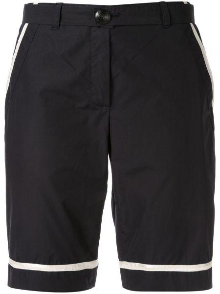 Хлопковые черные шорты с карманами Chanel Pre-owned
