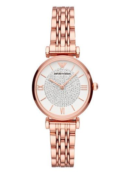 Różowy zegarek Emporio Armani