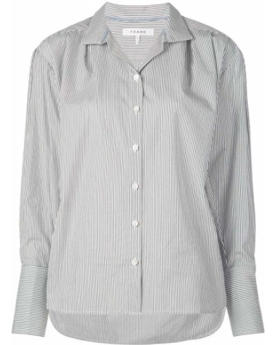 Рубашка с длинным рукавом белая в полоску Frame