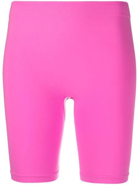 Облегающие розовые шорты эластичные Helmut Lang