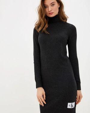 Джинсовое платье серое вязаное Calvin Klein Jeans