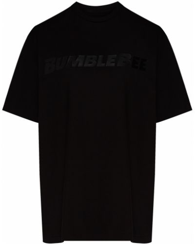 С рукавами черная футболка с надписью Chapurin