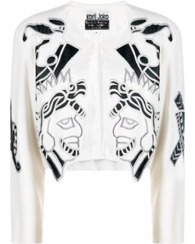 Шерстяной удлиненный пиджак винтажный с вырезом A.n.g.e.l.o. Vintage Cult