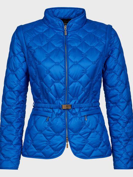 Куртка с поясом - синяя Luisa Spagnoli
