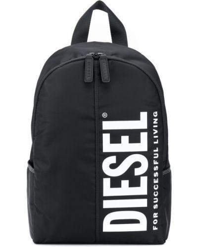 Черный рюкзак на бретелях на молнии Diesel Kids