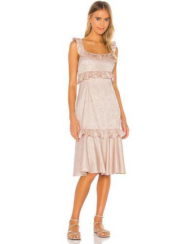 Восточное платье на молнии жаккардовое Saylor