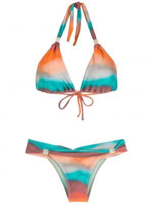 Пляжные бикини прозрачные золотые Brigitte